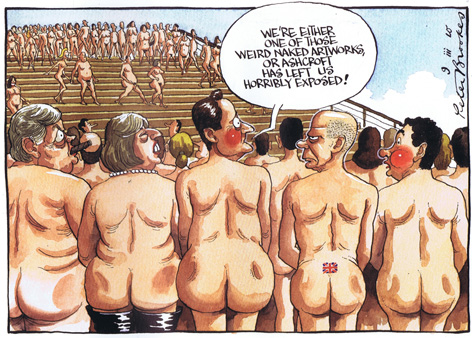 (RIGHT) David Cameron complained to The Times about the size of his bum in this cartoon.