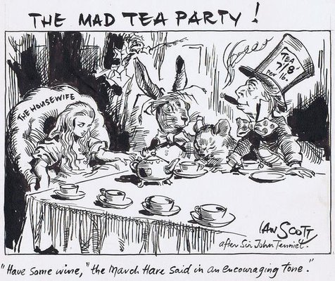 Mad Political Cartoon >> The Mad Tea Party Cartoon Gallery