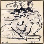 G.O.P. Elephant Washington Image.