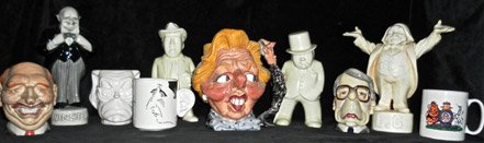 Political Cartoon Ceramics For Sale Image.