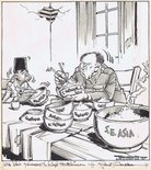 "SOLD ""That's the wonderful thing about Chinese food, Mr Sukarno... An hour later and you're hungry again!"" Image."