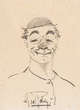 George Robey self-caricature and autograph Image.