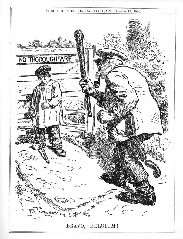 F. H. Townsend's famous cartoon for Punch 14 August 1914