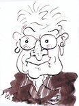 SOLD Keith Waite self-caricature Image.