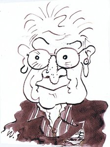 Keith Waite self-caricature