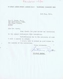 Letter from Bill Papas to Ian Scott Image.