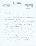 Letter from Leslie Illingworth to Ian Scott Image.