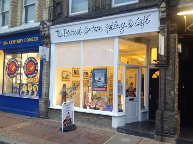 The Political Cartoon Gallery and Cafe has re-opened in Putney.