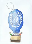 United Nations Balloon Image.