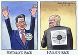 Portillo's Back Hague's back. Image.