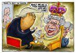 Trump to meet the queen Image.
