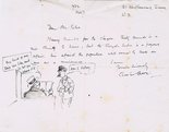 Letter from Punch cartoonist Chas Grave to Mr. Felce Image.