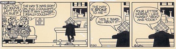 Tch! Tch! So you've left 'Im eh, Sue? - Cartoon Gallery