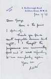 Letter from David Low to Sidney Strube Image.
