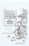 Education action zone/This bike shed has been sponsored by ACME TOBACCO COMPANY Image.