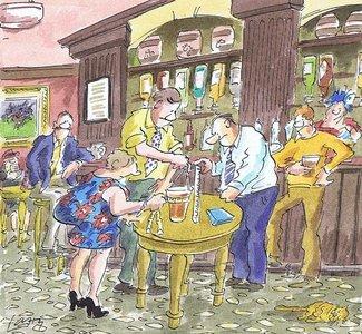 Pub Scene - Cartoon Gallery