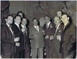 Billie Butlin meets Cartoonist Club members photograph Image.